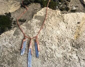 Blue Kyanite & Copper Necklace
