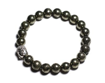 Buddha and gemstone - Pyrite bracelet