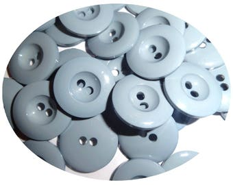 Set of 50 buttons haberdashery color grey blue