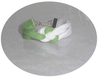 Bracelet, violet and green and white
