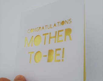 Congratulations Mother-To-Be Papercut Greetings Card Pregnancy