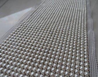 stripes beads ivory width 10 cm 50 cm