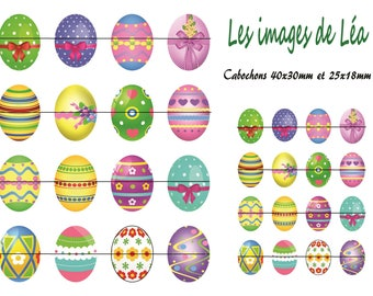 Easter eggs 1: printed collage sheet