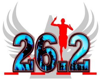 marathon 26.2 vinyl decal, full color marathon decal sticker, marathon decal, marathon sticker, marathon, 26.2, marathon laptop decal