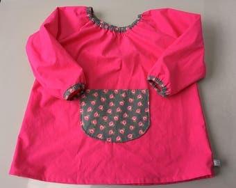 Schoolgirl apron/blouse size 5/6 years