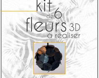 "6 balls Christmas KIT ""To achieve"" origami ""Customizable"" 3D flowers"