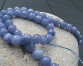 8-9 mm aquamarine beads