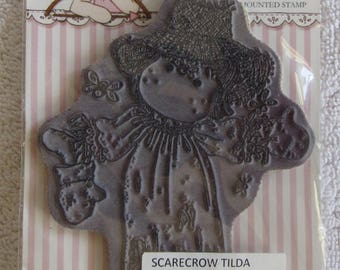 Magnolia Scarecrow Tilda rubber stamp, great for Halloween!!