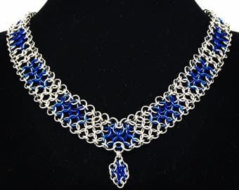 European dash chain necklace