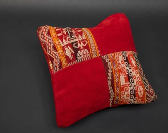 COLLECTION HACIENDA-CUSHION COVER MADE WITH ALPACA WOOL AND SUEDE