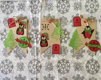 Gift tags cute Penguin scrapbooking