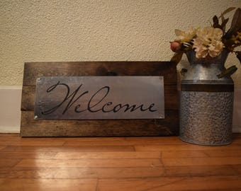 Handmade Metal Sign