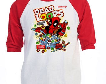 "DEADPOOL,Inspired,""DEAD LOOPS"" Retro T-Shirts,all sizes,416"
