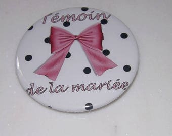 magnet, magnet size 58 mm maid of honor, wedding