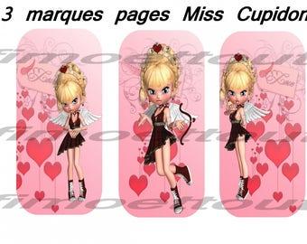 3 bookmarks digital miss Cupid (send email)