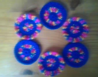 round crochet appliques