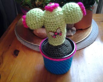 Large crochet cactus