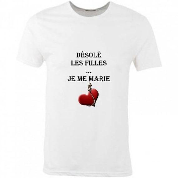 Favori T-shirt homme en coton humour Enterrement vie de garcon SA65