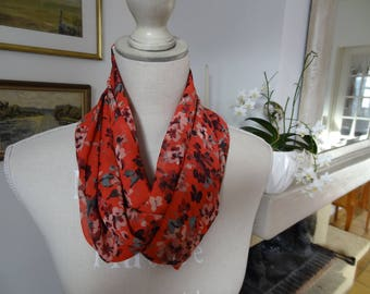 A great House-Lyon polyester chiffon infinity scarf