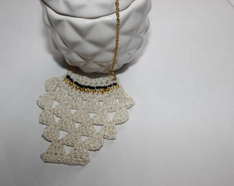 "Necklace ""ethnik"" smart crochet spirit ""F-pineapple"""