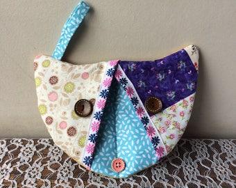 Cat-shaped kitchen glove patchwork