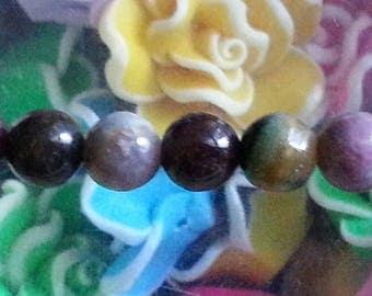 5 beads of tourmaline natural 8 mm diameter, hole 1 mm