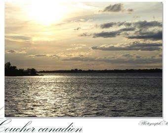 Photo - sunset card Canadian: 10 x 15 cm