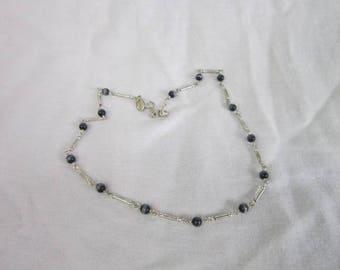 Designer Express Silver Tone & Art Glass Beads Necklace