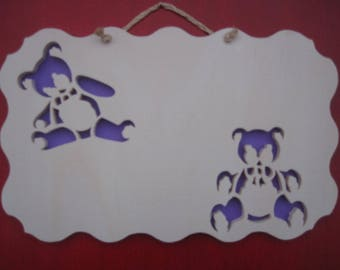 personalized door plate, Cubs pattern