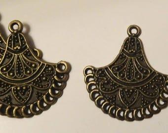 2 spirit bronze chandelier ethnic 39x37mm