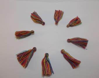 1 set of 8 tassel charms