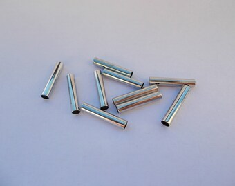 1 lot of 10 beads silver plated metal connectors