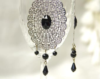 earring bronze elegant chic retro vintage