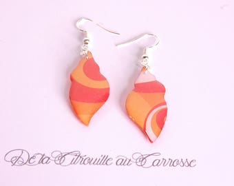 MOD orange and white earrings