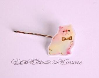 Pastel kawaii cat hair clip