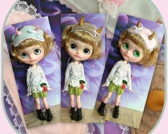 3 cute custom headband for Blythe doll