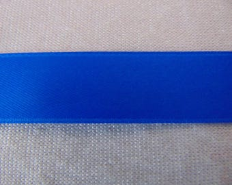 Double faced satin ribbon, blue (S-0089)