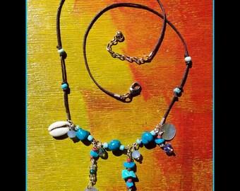 "Necklace mid-length ""Blue Peace"""