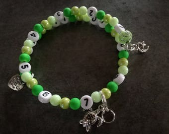 Turtle green gradient nursing bracelet