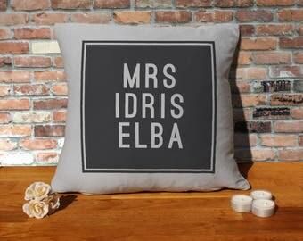 Idris Elba Pillow Cushion - 16x16in - Grey