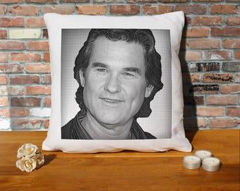 Kurt Russell Pillow Cushion - 16x16in - White