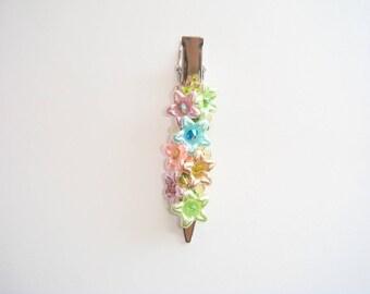 Multicolor Pearl spring hair clip