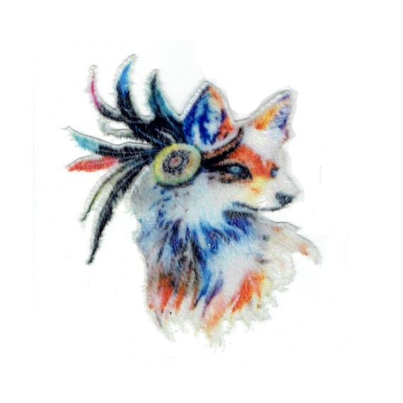 """Patch fusible pattern """"Wolf"""""""