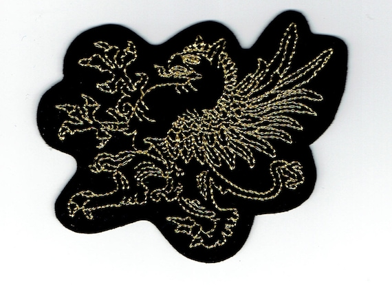 "Patch fusible trendy motif ""dragon"""