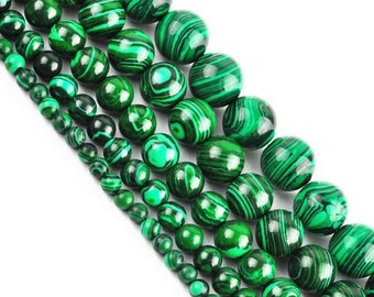 Round Pearl Malachite 6mm x 15
