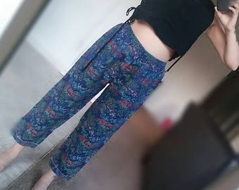 Asian print pants jogger
