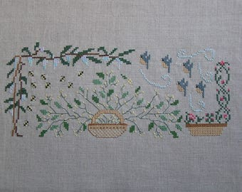 Stylized rustic embroidery
