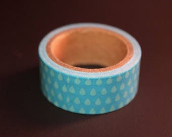roll of masking tape 3 m blue drops of water