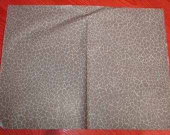sheet of decopatch grey giraffe skin