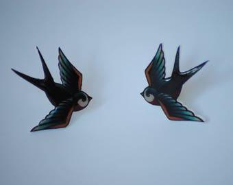 Swallow Bird Pin Set